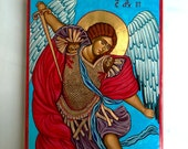 St Archangel Michael handpainted icon - MADE TO ORDER 12 by 16 inches