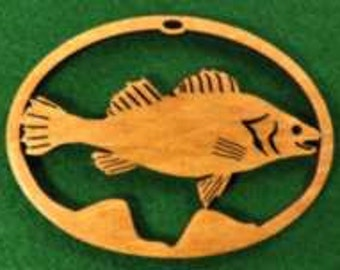 Wood Fish Ornament