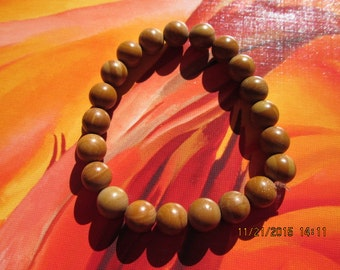 162  round bayong wood 10mm beaded handmade bracelet