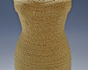Large paper twine jewelry busts, 3 colors - #D-7