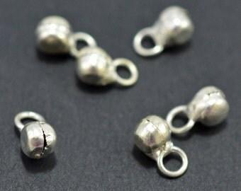 Silver drops, 4-5mm, # 1939