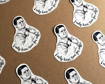 Agent Cooper Twin Peaks Vinyl Sticker