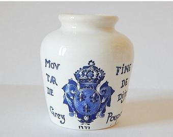 SALE 20% mustard jar french vintage sarreguemines digoin