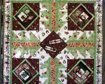 CIJ SALE Hot Chocolate Quilt Cocoa Winter Quilted Quiltsy Handmade FREE U.S. Shipping