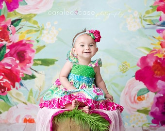 The Floralia flutter dress for girls toddlers babies