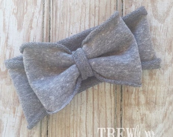 Terry grey bow band