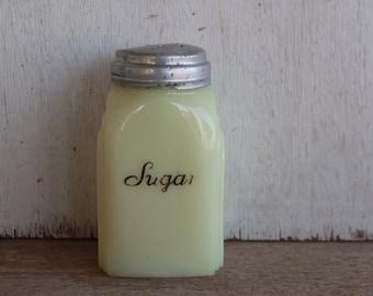 Vintage McKee Roman Arch Custard Glass Sugar Shaker