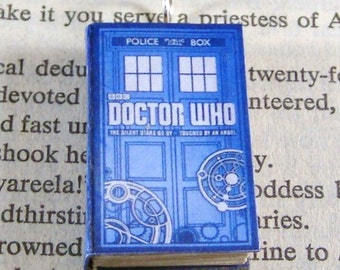 Miniature Classic Novels Book Necklace Charm Doctor Who