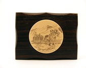 Scrimshaw Belt Buckle Miner with Burro and Cart The Rochester Corporation CIII