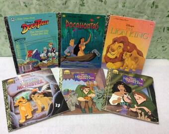 Lot of 6 Disney Little Golden Books