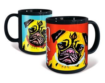 Pug Coffee Mug Woofhol