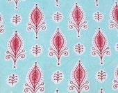 Natural dye hand print cotton: Sweet Whimsy - half metre
