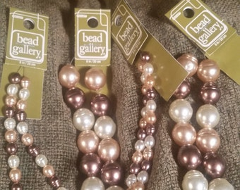 Faux Baroque Glass Pearls