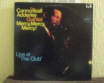 Cannon Ball Adderley Quintet vinyl record - Original - Mercy Mercy Mercy Vinyl - Vintage Record lp in EX+ Condition.