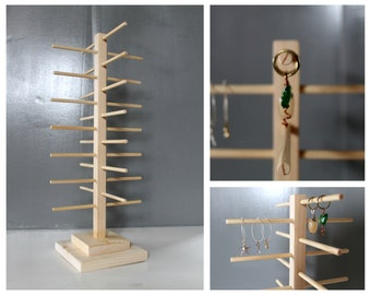 Rotating Display, Bracelet Organizer, Spinning Wooden Sun Glasses Rack, Charm Holder, Retail Fixture, Craft Show Display, Jewelery Storage