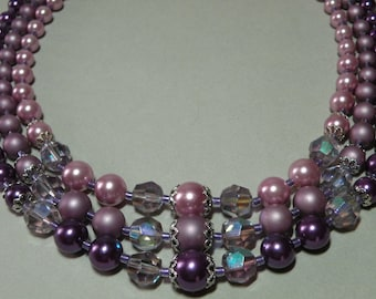 Shades Of Lavender Necklace