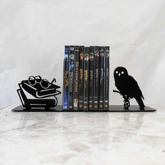 Metal Art Bookends, Movies, Books, Owl, Organizer