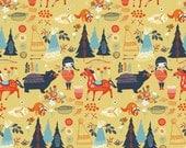 Organic Cotton Fabric - Birch Wildland Poplin - Village Feast