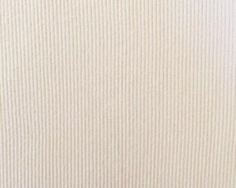 Organic KNIT Fabric - Cream Ribbed Knit