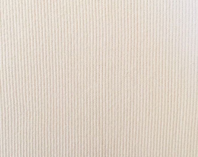 Organic KNIT Fabric - Cream Ribbed Knit