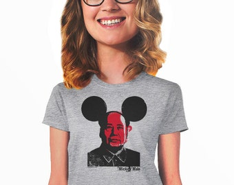 micky mao t-shirt for women Mao Zedong china mickey mouse fans t-shirt for hip geeks nerds political t-shirt fan for college teens dad s-4xl