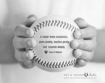 Personalized Dad Gift, Custom Gifts for Him, Birthday Father Gift, Gift From Child, Sports Prints, World's Best Dad, Baseball Photo Print