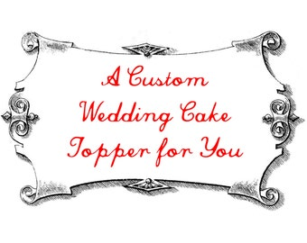 R E S E R V E D for Mikaela - Custom Deer Wedding Cake Topper
