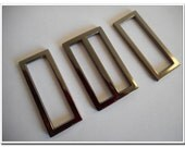 """5 sets 1.5 inch (inner size) Flat Cast Center Bar Slide buckles 1.5"""" Rectangular / Square Flat Rings, gunmetal Finish, , 1-1/2"""""""