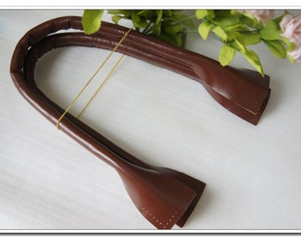 a pair of 19.5 to 26 inch real leather purse handles Brown purse making supplies high quality