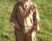Toddler Boy Indian American Native Inspired Costume, Made to Order
