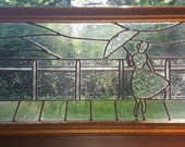 Stained Glass Woman on Boardwalk - Reserved for Nikki E