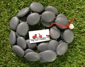 Betty Resin Statement Necklace in Charcoal Grey Dark Grey MATTE finish