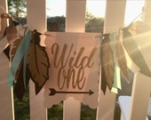 NEW!!  Wild One | High Chair Banner | photo prop