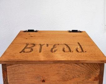Bread Box,Wooden Bread Box,Primitive Decor,Storage For Bread,Handmade Bread Box,Rustic Decor,Pine Bread Box,Routered Bread Box