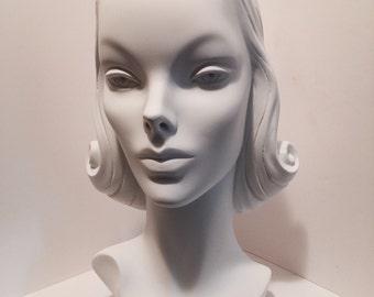 Handmade Hat Display Repro Vintage 1940s Mannequin Head