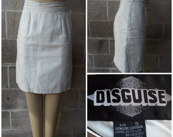 On Sale 1980s Leather Skirt by Disguise, Size Extra small/Small - #43093
