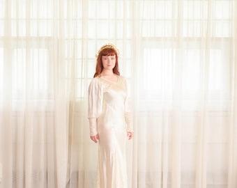 35% OFF - Vintage 1930s Wedding Dress - 30s Bias Cut Wedding Gown -