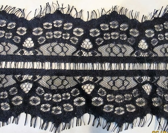 Black eyelash lace trim