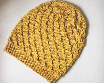PATTERN: Honey, Knitted Slouch Hat
