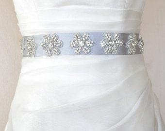SALE, EXPRESS SHİPpiNg! Seven Daisies Elegant  Rhinestone Beaded Wedding Dress Sash Belt