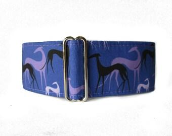 Greyhound Collar, Purple Martingale Dog Collar, Greyhound Martingale Collar, Greyhound Dog Collar, Galgo Martingale Collar, Galgo Collar