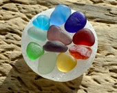 SEAHAM NEST - Rainbow - Seaham Sea Glass Shards - Collection (3867)