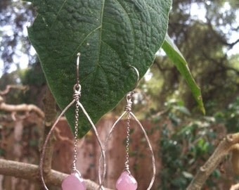 Sterling Silver and Pink Sapphires