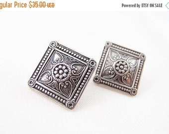 CLEAROUT SALE 40% OFF Nouveau French-- ox sterling silver plated solid brass earring post,