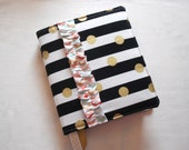 Made to Order Custom Ruffled Journaling Bible Cover Modern Stripe with Dots