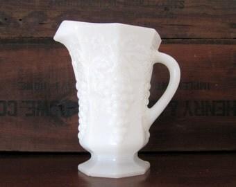 Vintage Milk Glass Pitcher