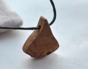 hornbeam wood • unique wooden necklace • wooden pendant