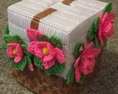 Basket of Flowers Tissue Box Cover