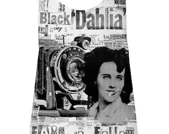 Black Dahlia DIY Cut Tank top