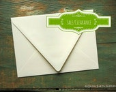 """CLEARANCE: 100 A7 Euro Flap Envelopes, triangle flap, contour flap, Recycled Ivory, 5 1/4"""" x 7 1/4"""" (133x184mm), pointed flap, SALE"""